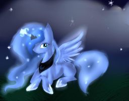[Mlp-Luna] Luna's Night by Darkthunder8716