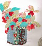 Fabric plant collage by Cheridet