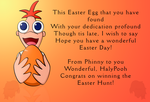 Prize:  HalyPooh's Easter card, Phineas! by AmyNChan