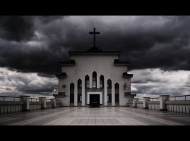 Scary church roof by LafaStudio