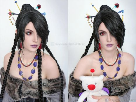 Final Fantasy 10 Lulu Cosplay makeup test by AlysonTabbitha