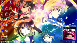 Sailor Moon Desktop by HoneyAppleNinja