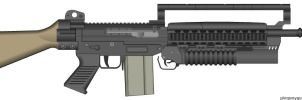 Misriah Armories XM-42 FAL Going Quantum by Chrona-X-Kid