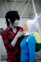Adventure Time ~ Marshall Lee and Fionna by YamatoTaichou