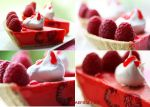 Raspberry Ice Cream Jello Pie by theresahelmer