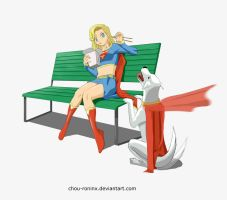 Commission Kara and Krypto by chou-roninx