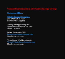 Contact Information of Trinity Energy Group by sar1matt1la