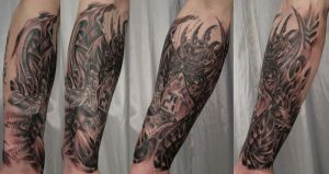 In prog. Bio Face armsleeve 3 by 2Face-Tattoo