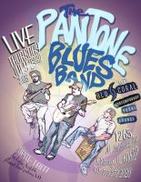 The Pantone Blues Band flier by Mortal-Mirror