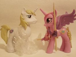 WIP: Shining Armor and Cadence Hair by Oak23