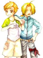 FMA: Elric Brothers by catzzzrule