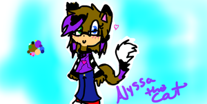 New Alyssa the cat ref by Doodle-To-The-Rescue
