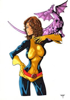 Kitty Pryde and Lockheed Colors by guillomcool