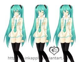 Miku Uniform by p-inkapple