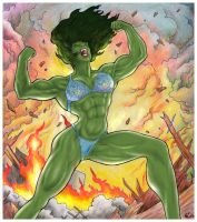 Savage She-Hulk by yatz
