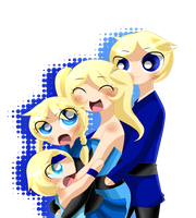The Blue family by NanakoBlaze