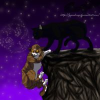 Leafpool and Crowfeather by fyrewhisp