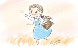 Belle with the Dandelions by nahsiah