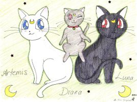 Artemis, Diana, Luna by Ave606