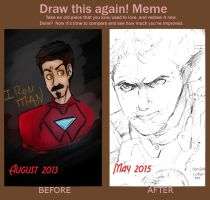 Old V New Ironman Drawing by pizzarias