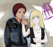 [Delsin and Lucy] - comm by Kohaya7Kae-13