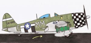 P-47 Thunderbolt color by DingoPatagonico