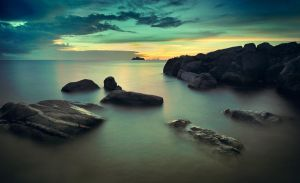 Dusk at Tanjung Binga by dhikagraph