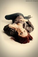 Resting in denim and leather by lakehurst-images