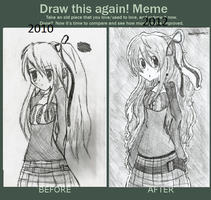 before and after meme by Chibii-chii
