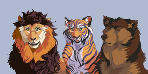 Lions Tigers and Bears by Emone