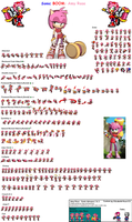 Sonic BOOM Sprites: Amy Rose by Elizabeth-Rose123