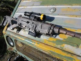 Fallout 308 sniper (On an old truck) by KevlarKatana