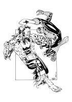 Spidey vs Puma - JulienHB inks by SpiderGuile