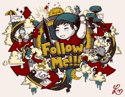 Follow Me Colored Version by lei-melendres