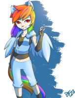 Rainbow Dash by blacktenshi22