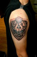 Hylian Shield Tattoo by Sirius-Tattoo