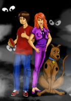 Shaggy Daphne and Scooby by CrimsonArcher99