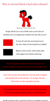Why is red and black a bad color scheme? by Pix3M