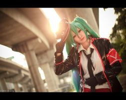 hatsune miku by Bakasteam