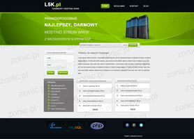 Hosting company layout by ZonicPL