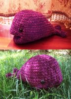 purple fuzzy whale whale by antichange