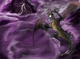 Dark Spyro at Sea by samuraiboys10