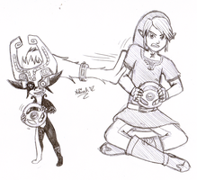OTP Day 3: Midna and Link by Meta-Akira