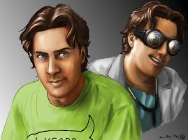 Spoony and Dr. Insano portrait by JereduLevenin