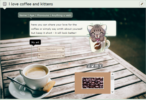 I love coffee and kittens | F2U code by Martith