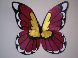 Maroon and Gold  Wings by KimsButterflyGarden