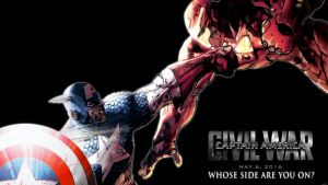Captain America vs Iron Man: Civil War by Xionice