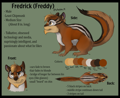 Fredrick the Chipmunk by wrobles4