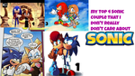 My Top 4 Sonic Couple I don't really care about by BlackOtakuZ