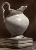 Vase - White on Black by ArtemAmoris